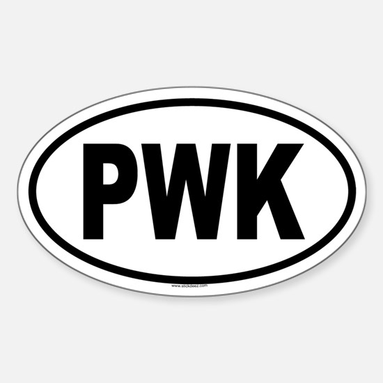 PWK Oval Decal