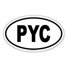 PYC Oval Decal