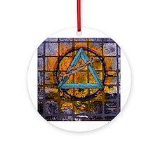 AA Graffiti Ornament (Round)