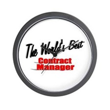 """The World's Best Contract Manager"" Wall Clock"
