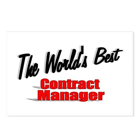"""""""The World's Best Contract Manager"""" Postcards (Pac"""