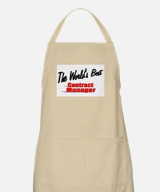 """""""The World's Best Contract Manager"""" BBQ Apron"""