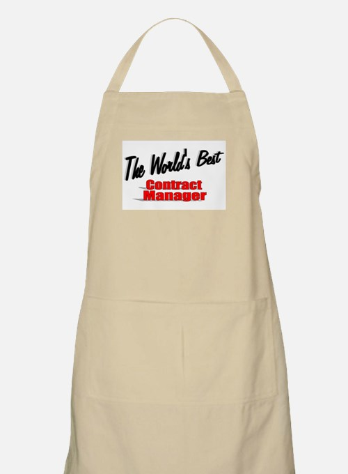 """The World's Best Contract Manager"" BBQ Apron"