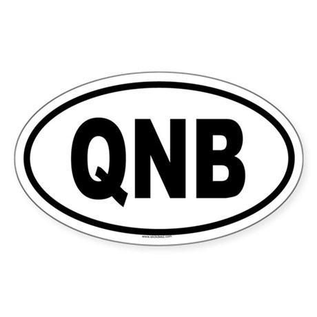 QNB Oval Sticker