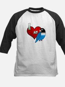 Love Blue Black Masked Lovebird Tee