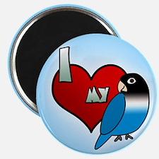 Love Blue Black Masked Lovebird Magnet