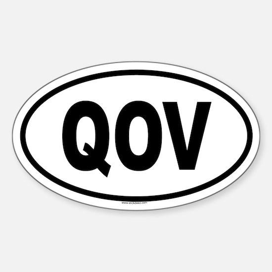 QOV Oval Decal