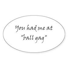 Ball Gag Oval Decal
