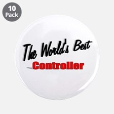 """The World's Best Controller"" 3.5"" Button (10 pack"