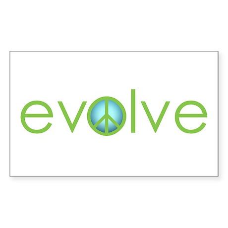 Evolve - Peace Rectangle Sticker