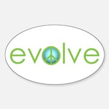 Evolve - Peace Oval Decal