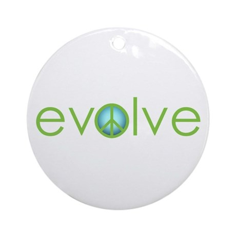 Evolve - Peace Ornament (Round)