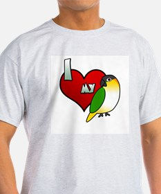I Love My Black-Headed Caique TShirt (Light)