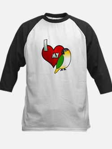 Love Black-Headed Caique Kids Baseball Jersey