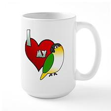 I Love My Black-Headed Caique Mug
