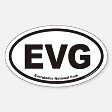 EVG Everglades National Park Euro Oval Decal
