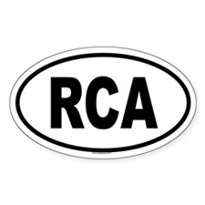 RCA Oval Decal
