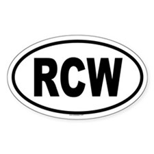 RCW Oval Decal