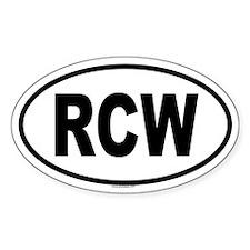 RCW Oval Decal