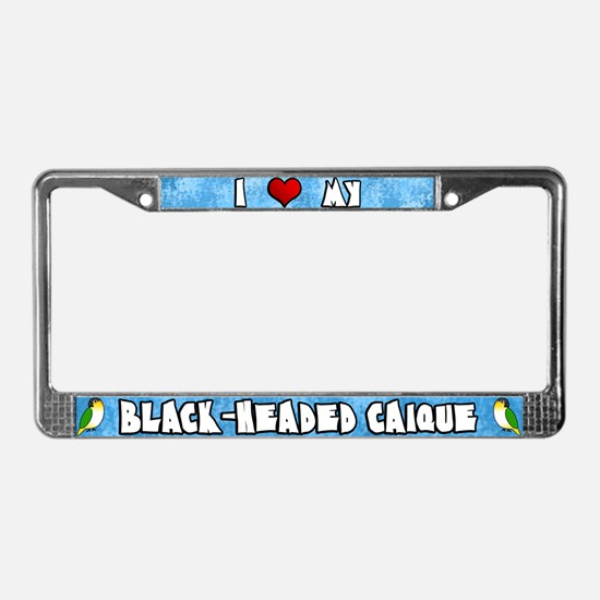 Crtn Love Black-Headed Caique License Plate Frame