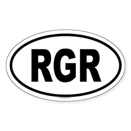 RGR Oval Sticker