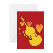 Double Bass Heartsong Greeting Cards (Pk of 20)