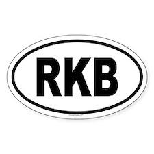 RKB Oval Decal