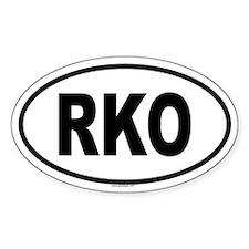 RKO Oval Decal
