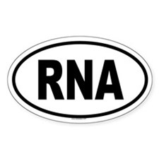 RNA Oval Decal