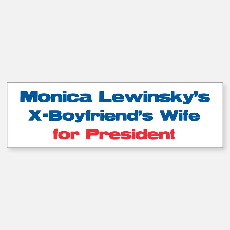 Monica's X - Bumper Bumper Bumper Sticker