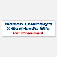 Monica's X - Bumper Car Car Sticker