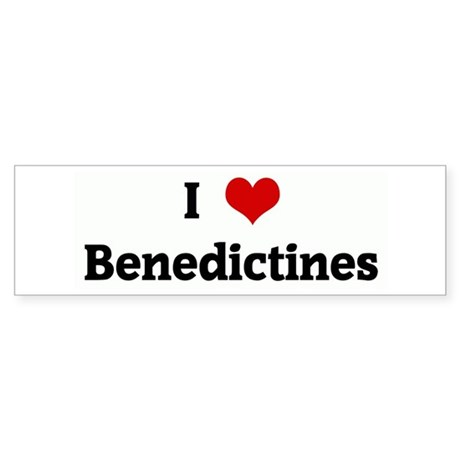 I Love Benedictines Bumper Sticker
