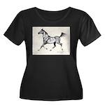 Arabian Women's Plus Size Scoop Neck Dark T-Shirt
