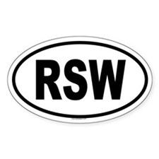 RSW Oval Decal