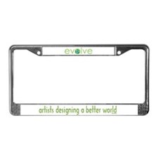 Evolve - planet earth License Plate Frame