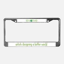Evolve - planet earth License Plate Frame