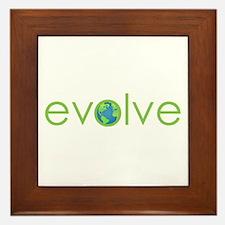 Evolve - planet earth Framed Tile