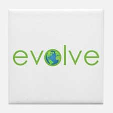 Evolve - planet earth Tile Coaster