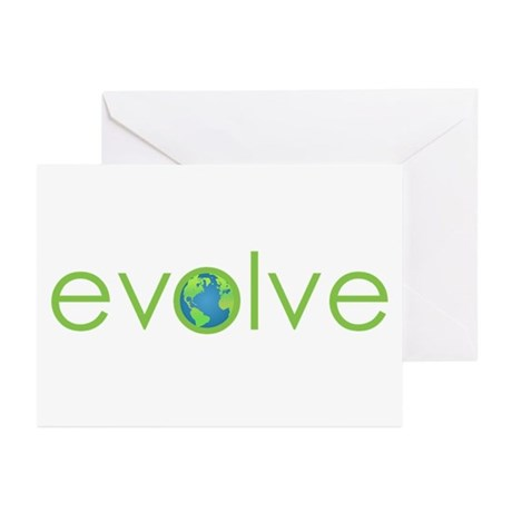 Evolve - planet earth Greeting Cards (Pk of 10)