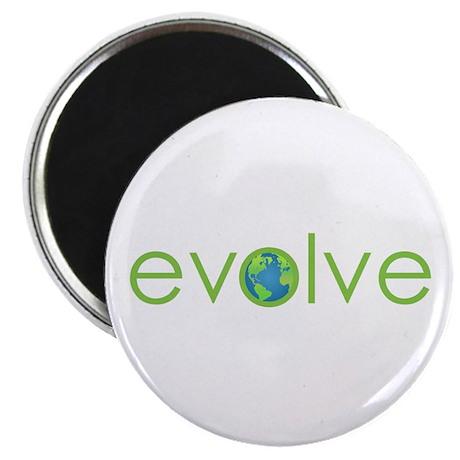 "Evolve - planet earth 2.25"" Magnet (100 pack)"