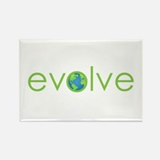 Evolve - planet earth Rectangle Magnet