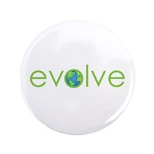 """Evolve - planet earth 3.5"""" Button (100 pack)"""