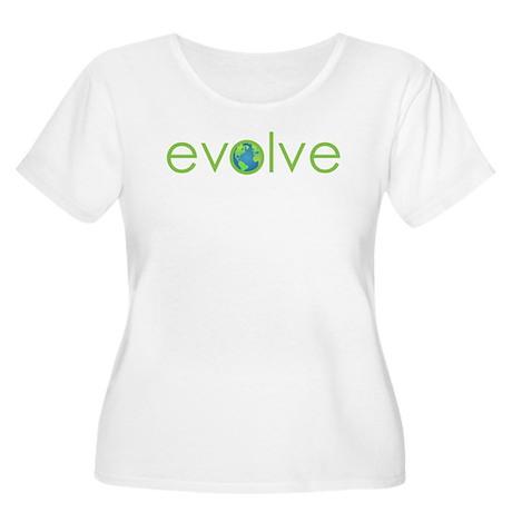 Evolve - planet earth Women's Plus Size Scoop Neck