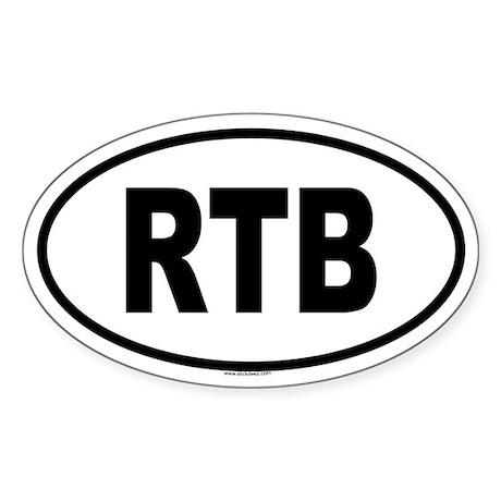 RTB Oval Sticker