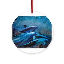 Dolphin Dance Ornament (Round)