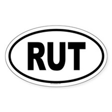 RUT Oval Decal