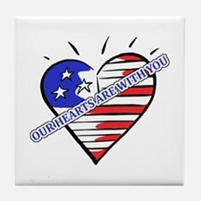 Valentine's for Military Tile Coaster