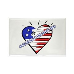 Valentine's for Military Rectangle Magnet (10 pack