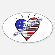 Valentine's for Military Oval Decal