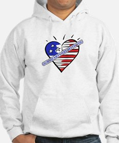 Valentine's for Military Hoodie